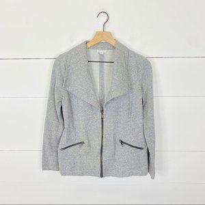 A Pea in The Pod Gray Moto Sweater Size S